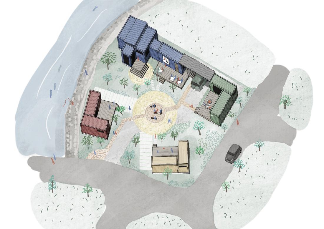 コンテナハウスの見取り図